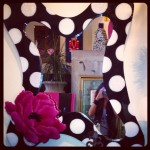 Custom Artwork Black & White Polka Dot Mirror