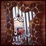 Custom Artwork Giraffe Mirror