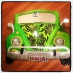 Custom Artwork IMTOPLS VW Bug Mirror
